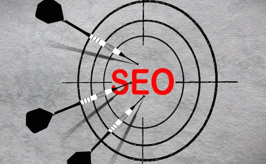 Darts on target - Search Engine Optimization idea - SEO